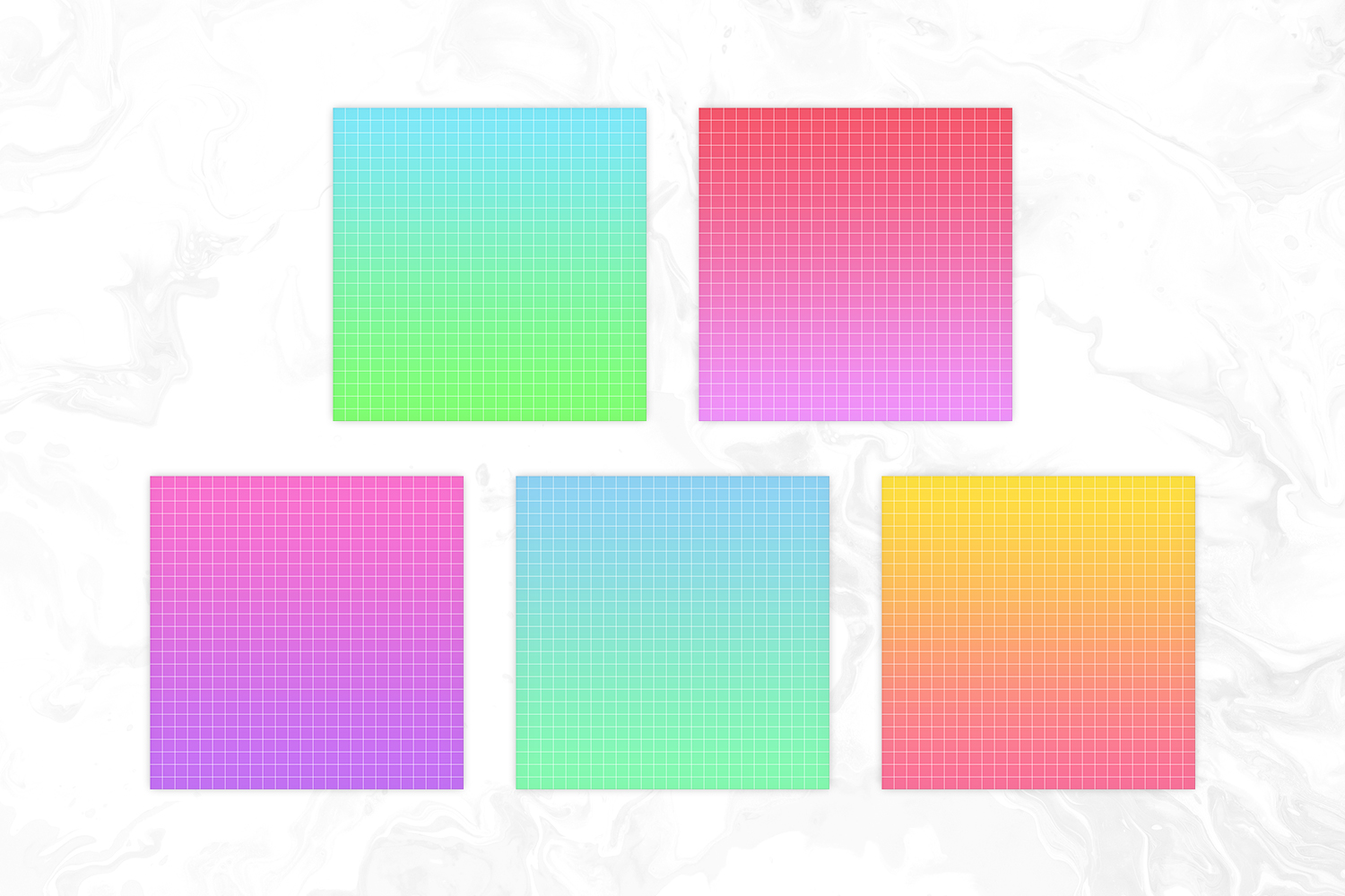 Seapunk Inspired Bright Gradient Big Grid Backgrounds example image 2