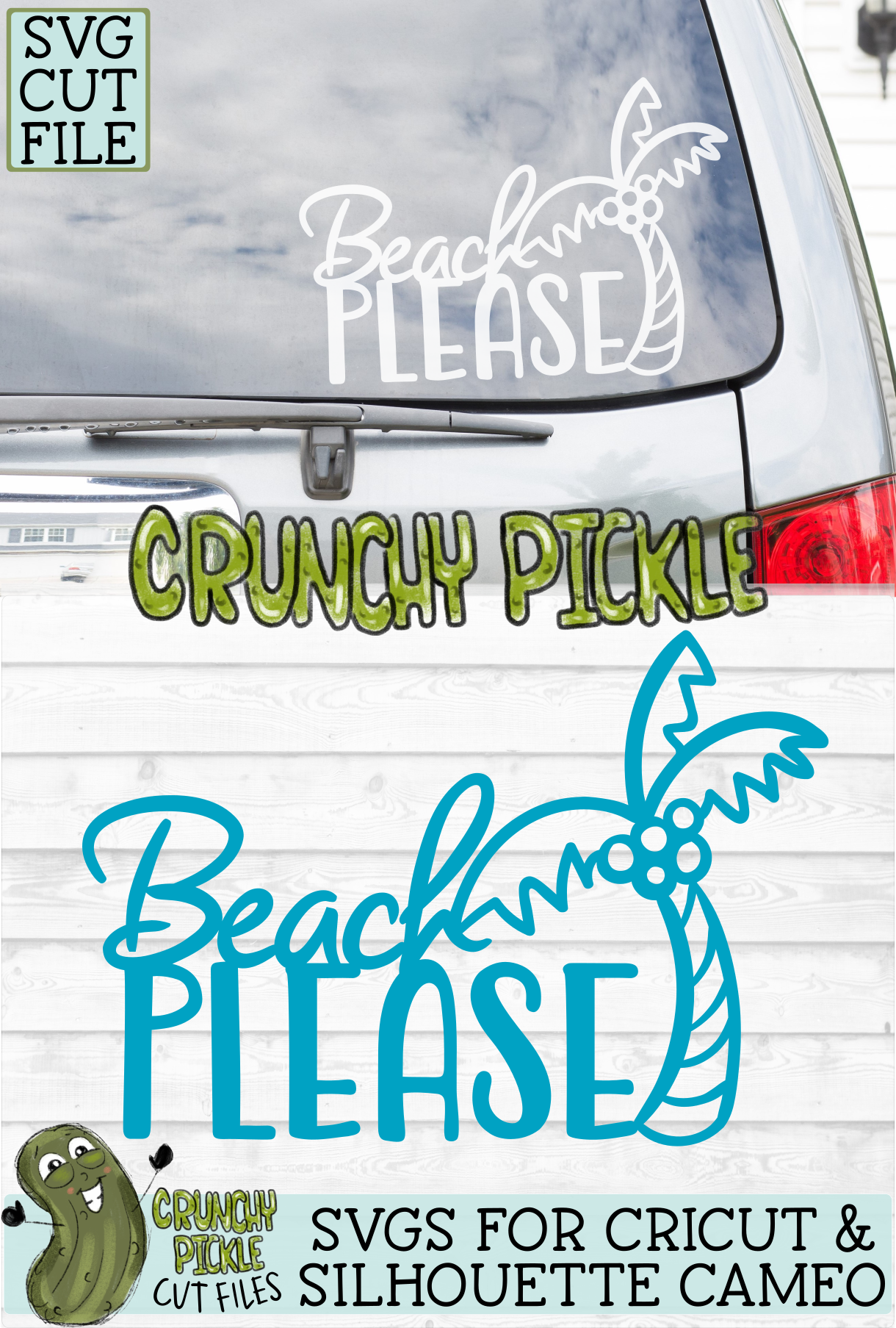 Beach Please Palm Tree SVG Cut File example image 6