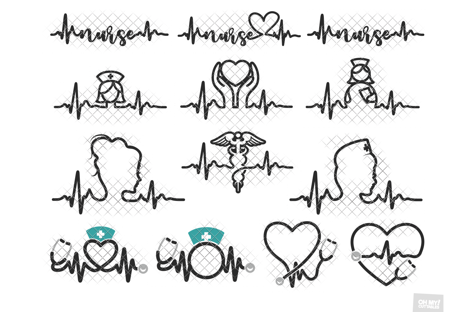 Im A Nurse Heart Beat and Symbol 3D All Over Sublimation Printed