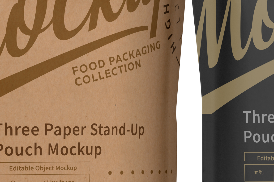 Three Paper Doy-Pack Pouch Mockup example image 6