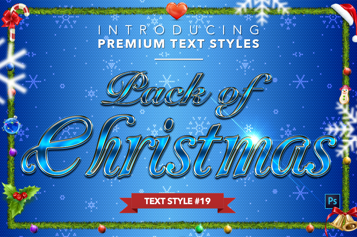 Christmas Pack #2 - 20 Text Styles example image 20