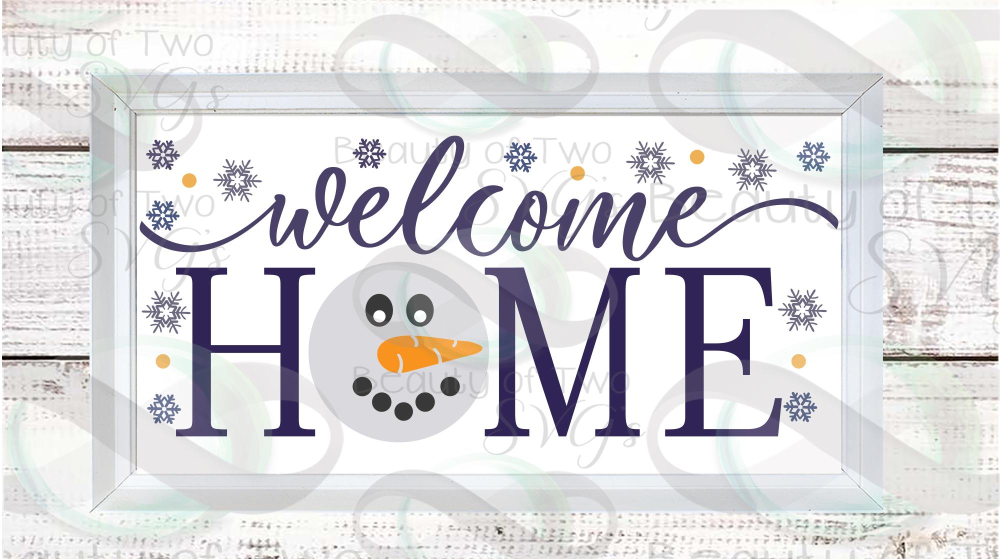 Farmhouse Hello Winter svg Sign Design bundle, 6 svg designs example image 4