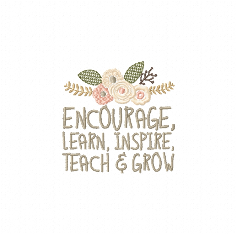 Teachers Day, Thank You Teacher, Quote for Teacher Embroidery Design Instant Download Digital File Hoop 4x4 5x7 6x10 example image 3