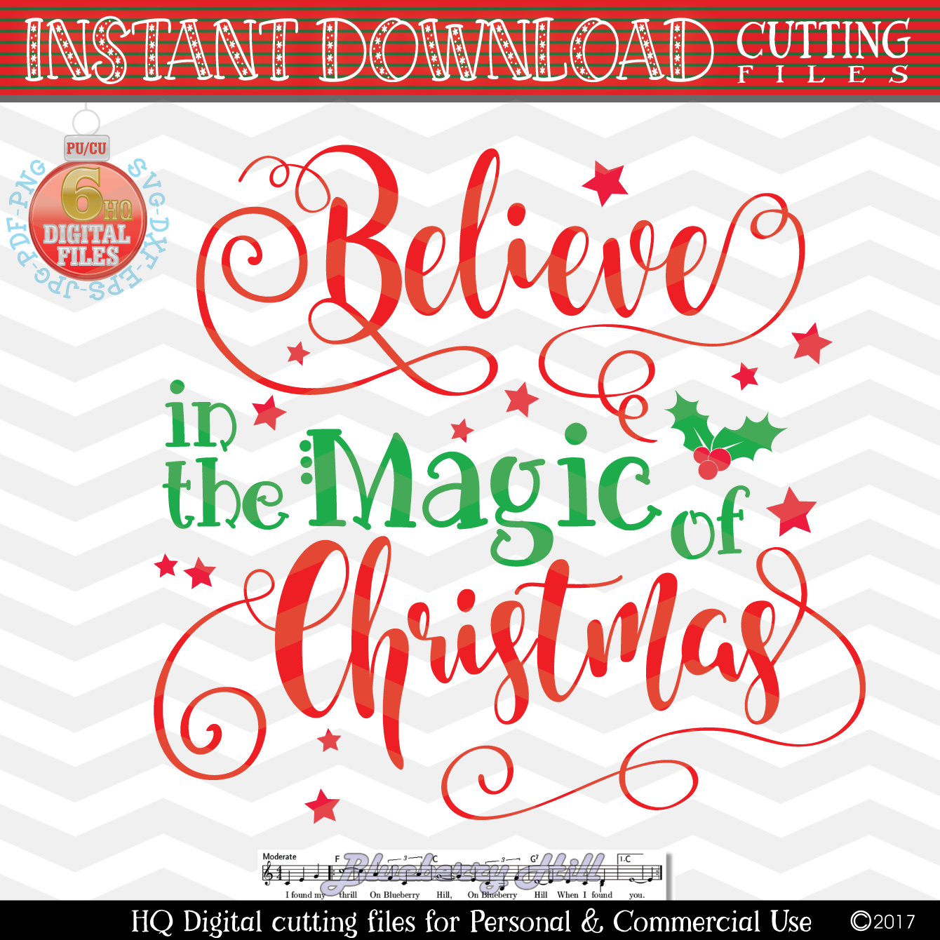 Believe in the Magic of Christmas SVG -Christmas SVG - Xmas