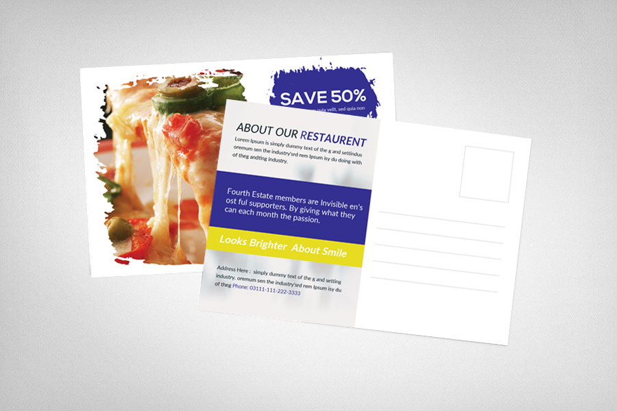 Dominos Post Card Template example image 2