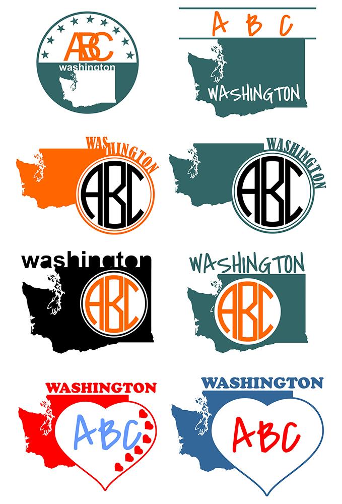 Washington DC Monograms SVG, JPG, PNG, DWG, CDR, EPS, AI example image 2