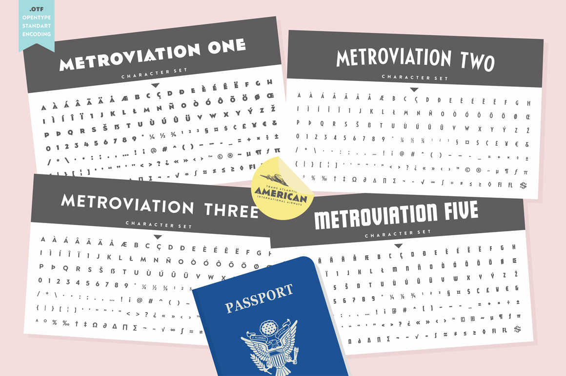 S&S Metroviation Font Bundles example image 12