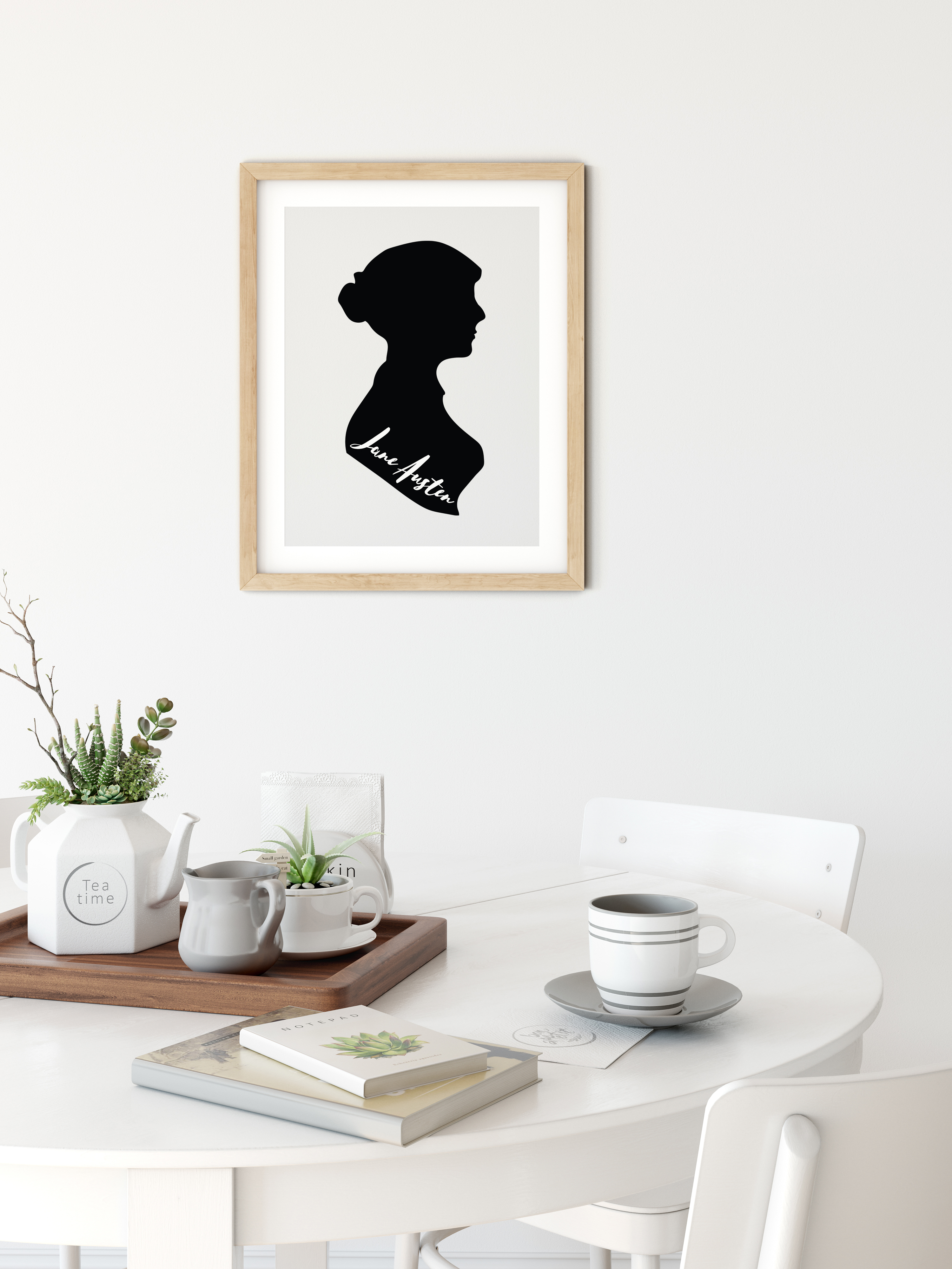 Jane Austen Silhouette Digital Design example image 3