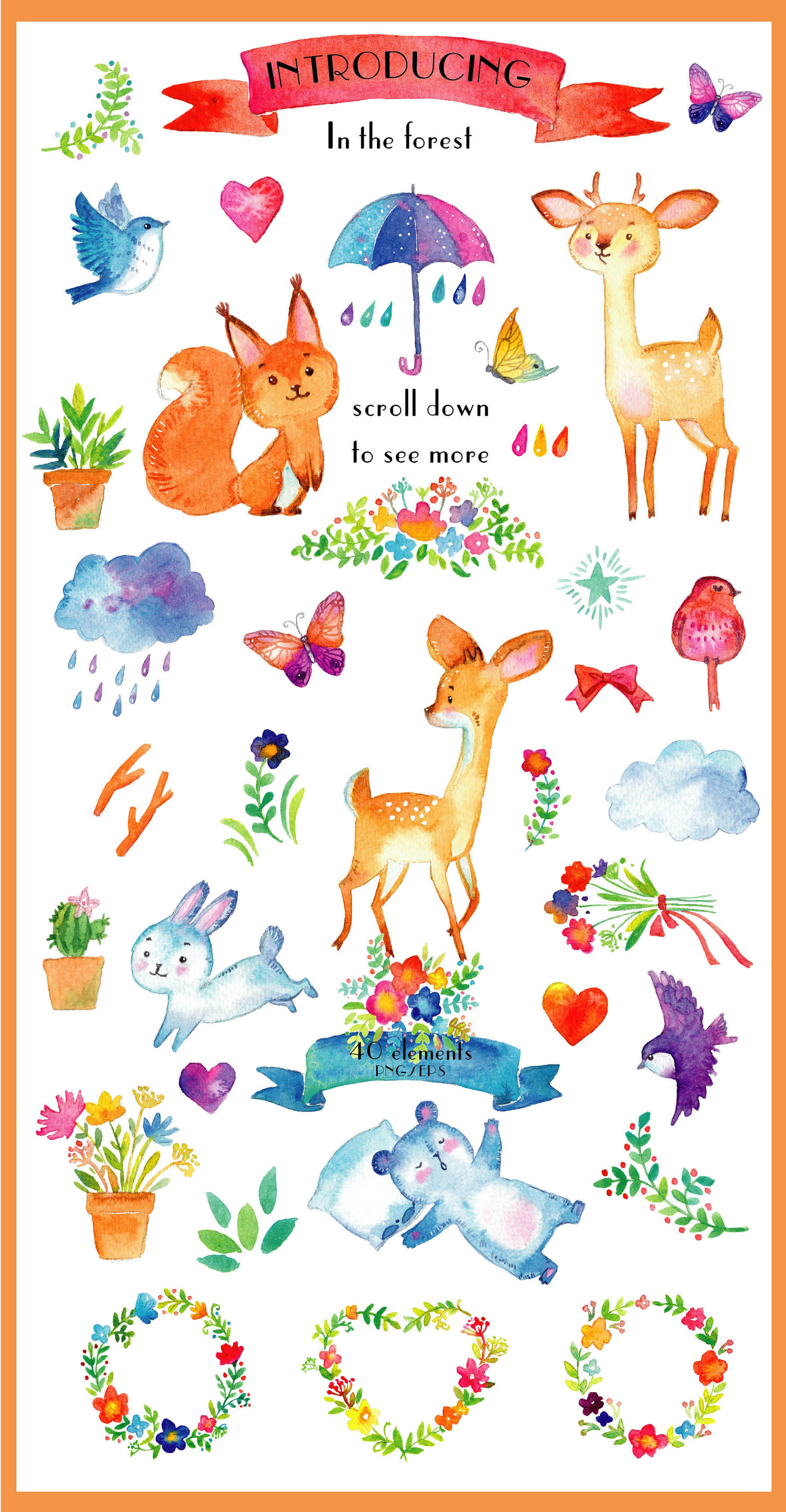 Spring animals. Deers, birds, bear, squirrel etc example image 2