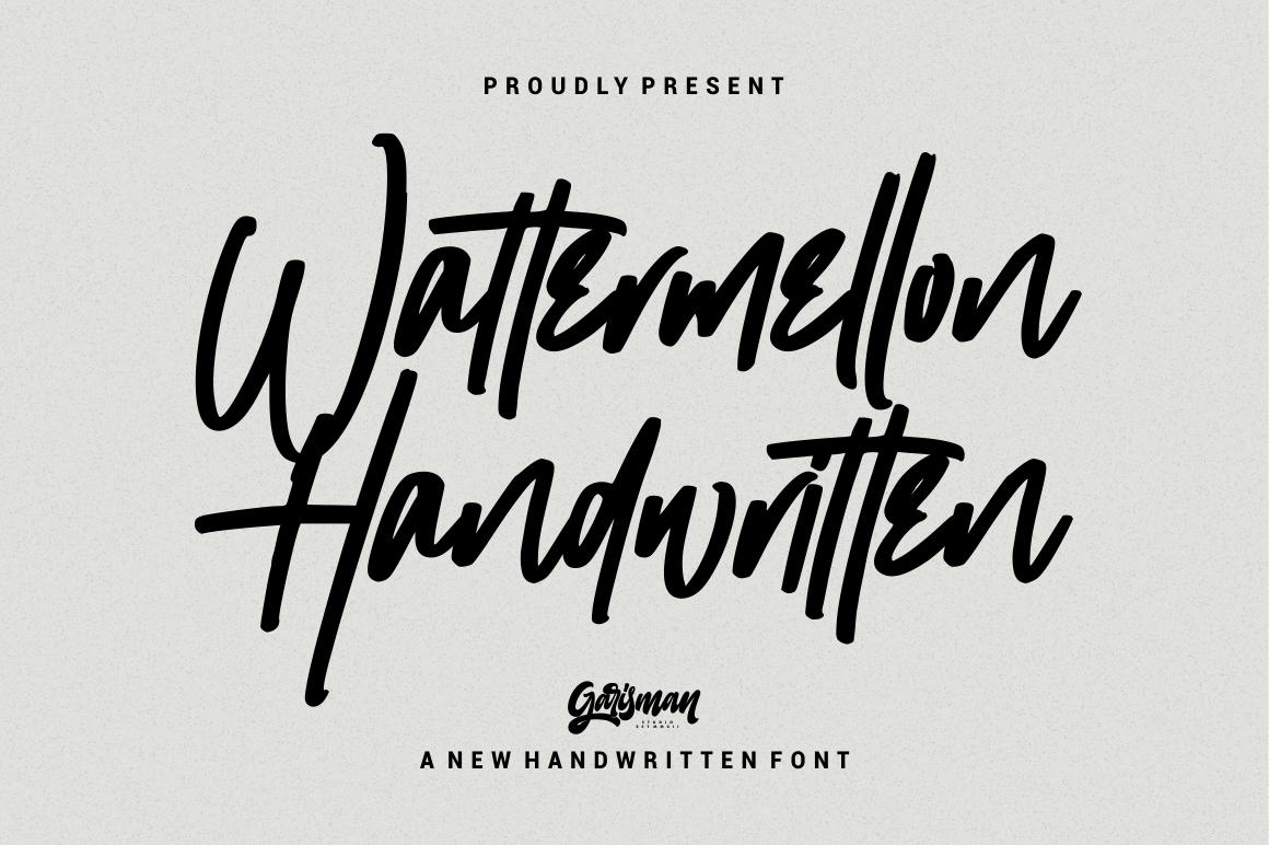 Wattermellon - Handwritten Font example image 1
