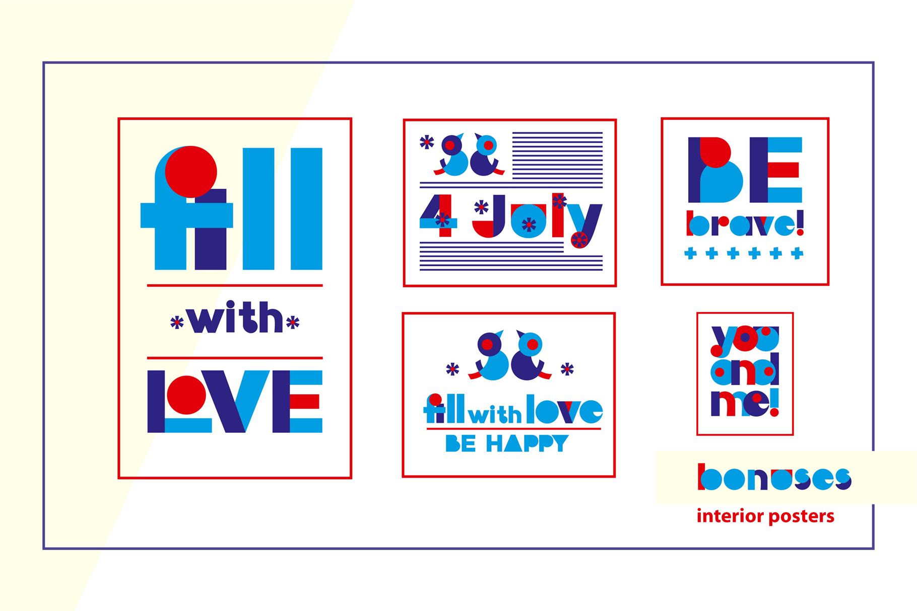 LOVE-BIRDS multicolor font example image 6