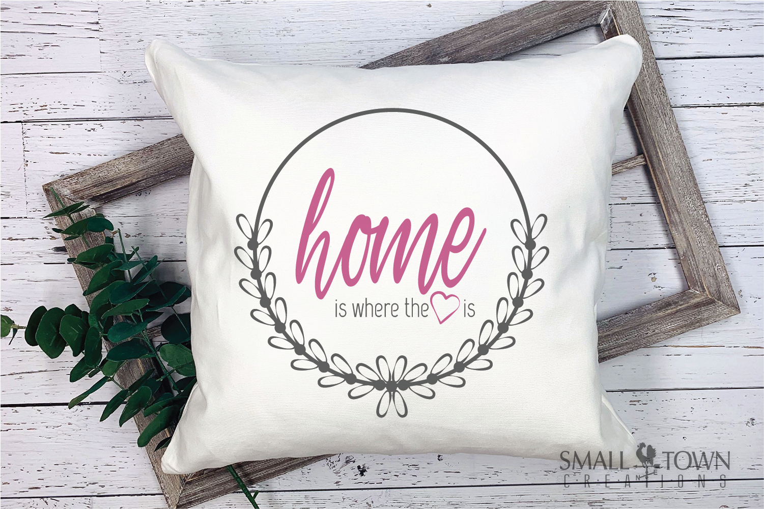 Home, Welcome, Blessed, Wreath, PRINT, CUT & DESIGN example image 9