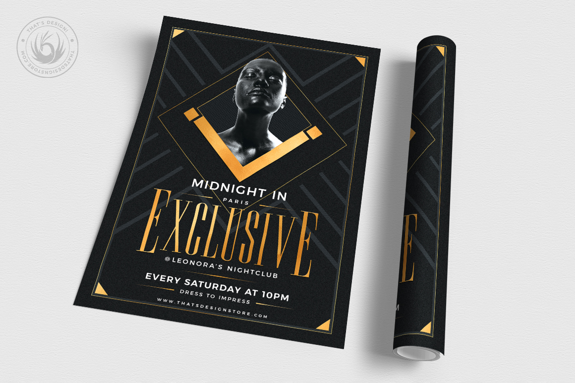 Exclusive Party Flyer Template example image 3