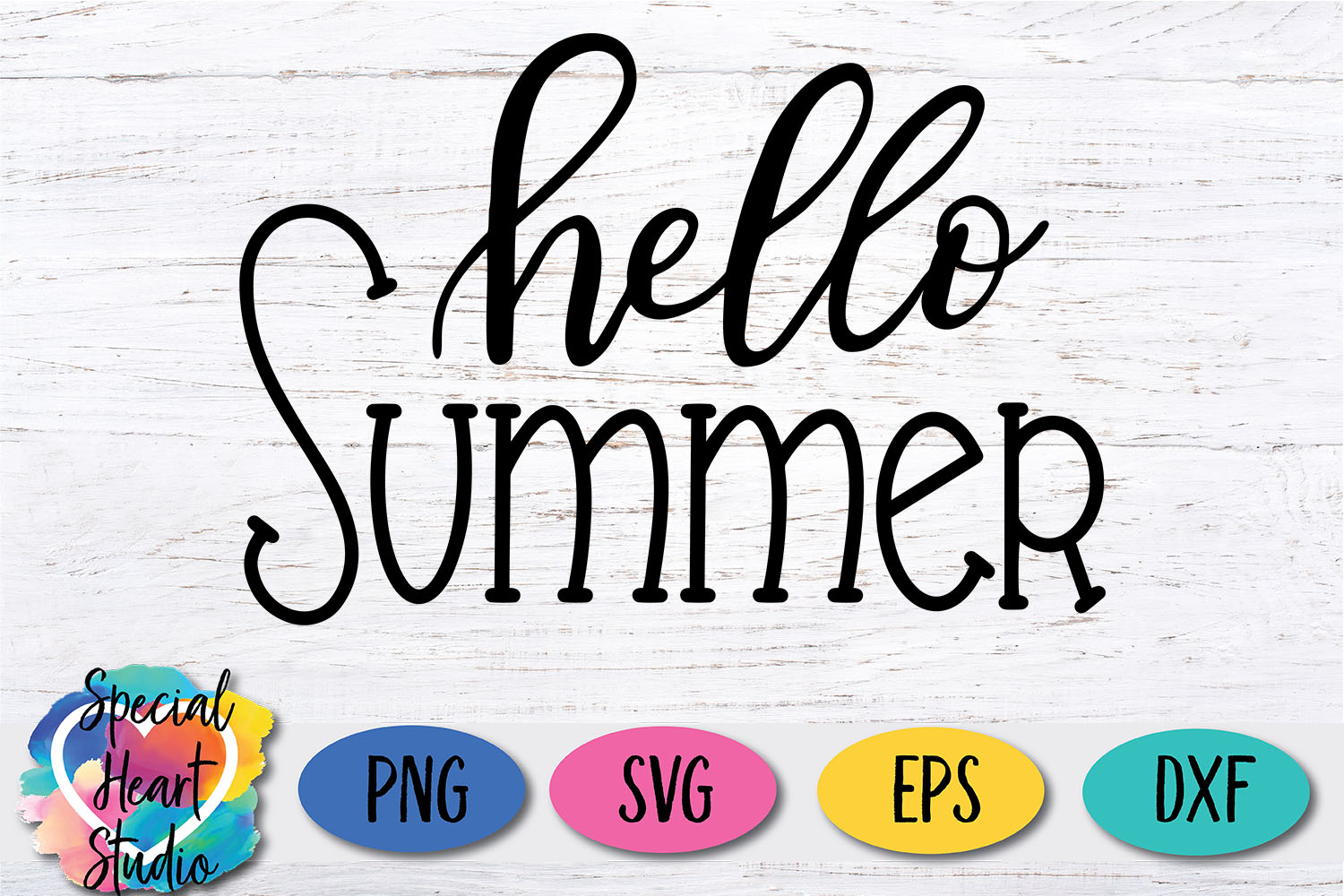 Hand lettered Hello Summer SVG - Home decor, sign, pillow example image 2
