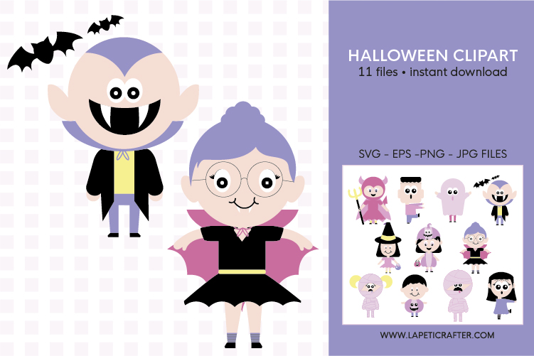Cute Halloween clip art, halloween kids, halloween party png example image 5