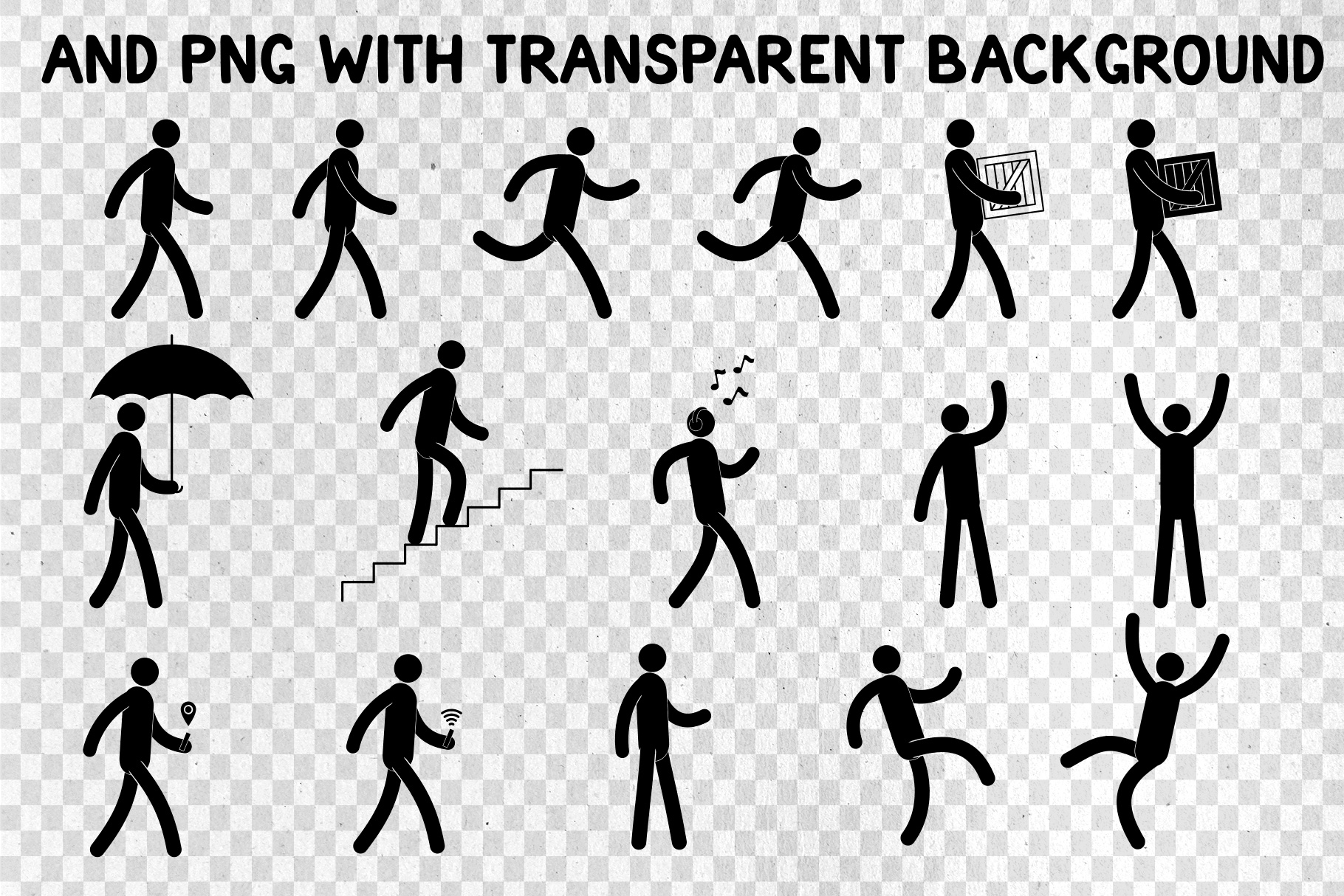 Pictogram Man Editable Poses example image 3