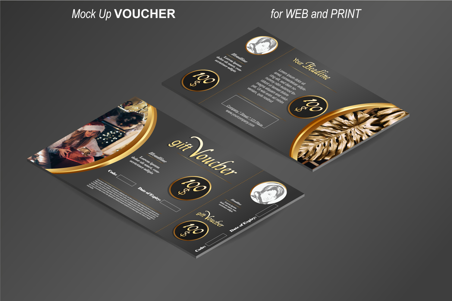 Template - Gift Voucher - Noble Gold example image 4