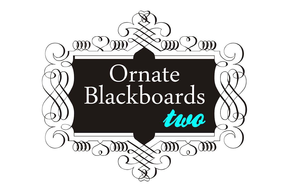 Ornate Blackboards pack example image 3