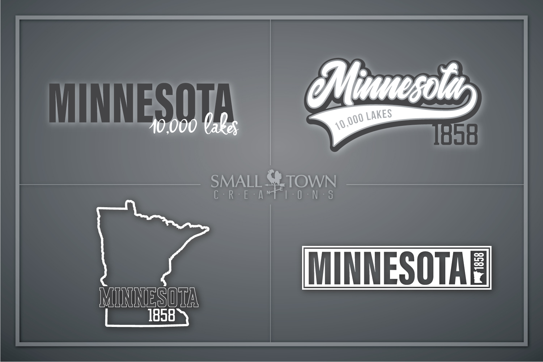 Minnesota, 10,000 Lakes - slogan, PRINT, CUT & DESIGN example image 1
