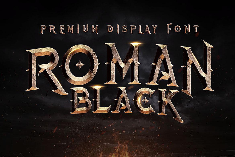 Roman Black - 8 Display Fonts example image 2