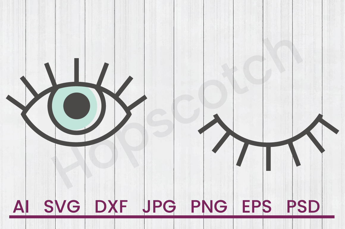 Wink SVG, DXF File, Cuttatable File example image 1