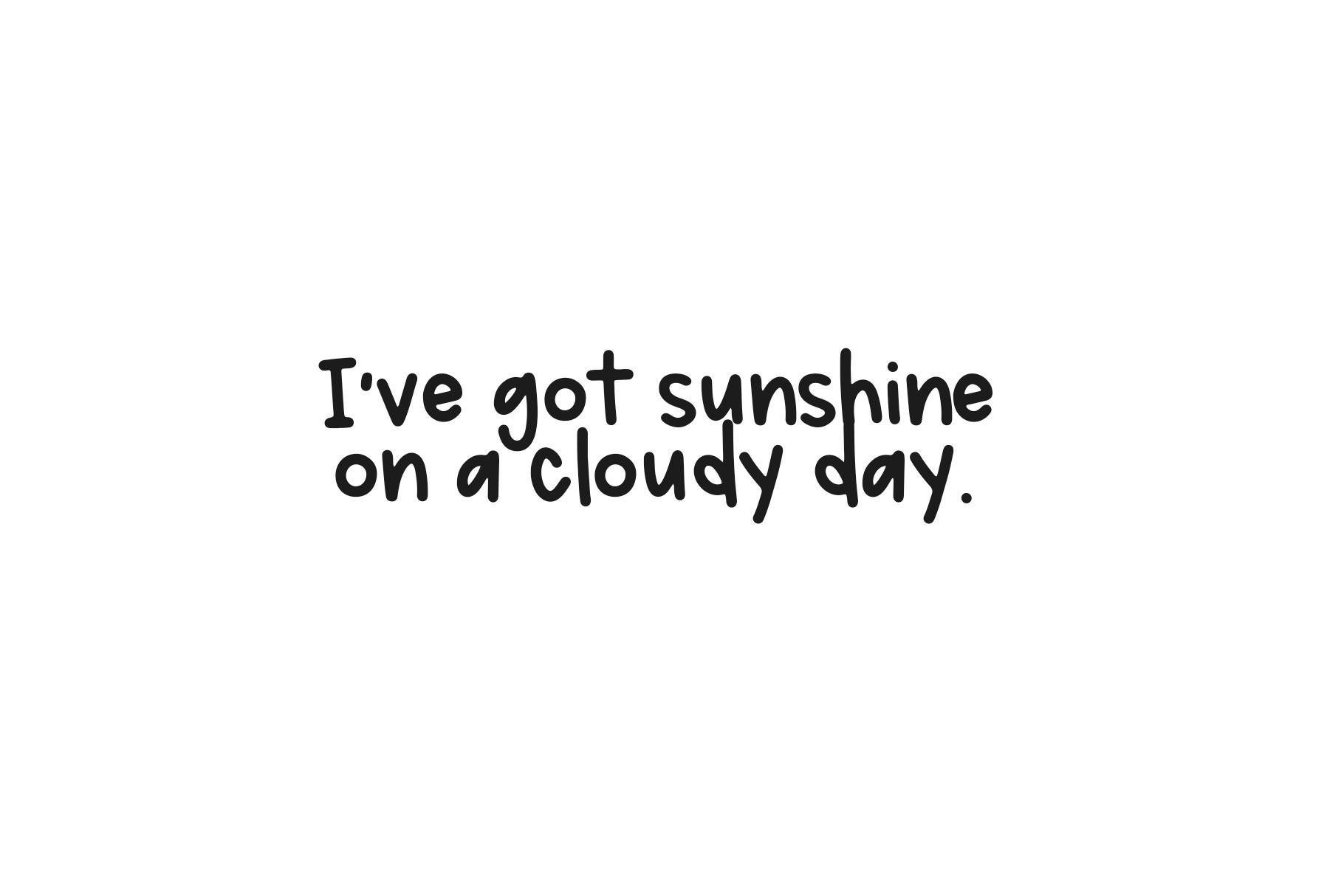 Sunshine Market - A Handwritten Font example image 7