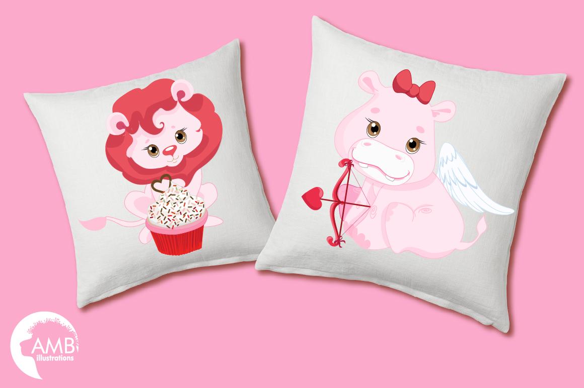 Happy Valentine clipart, Valentine jungle clipart, graphics illustrations AMB-1577 example image 2