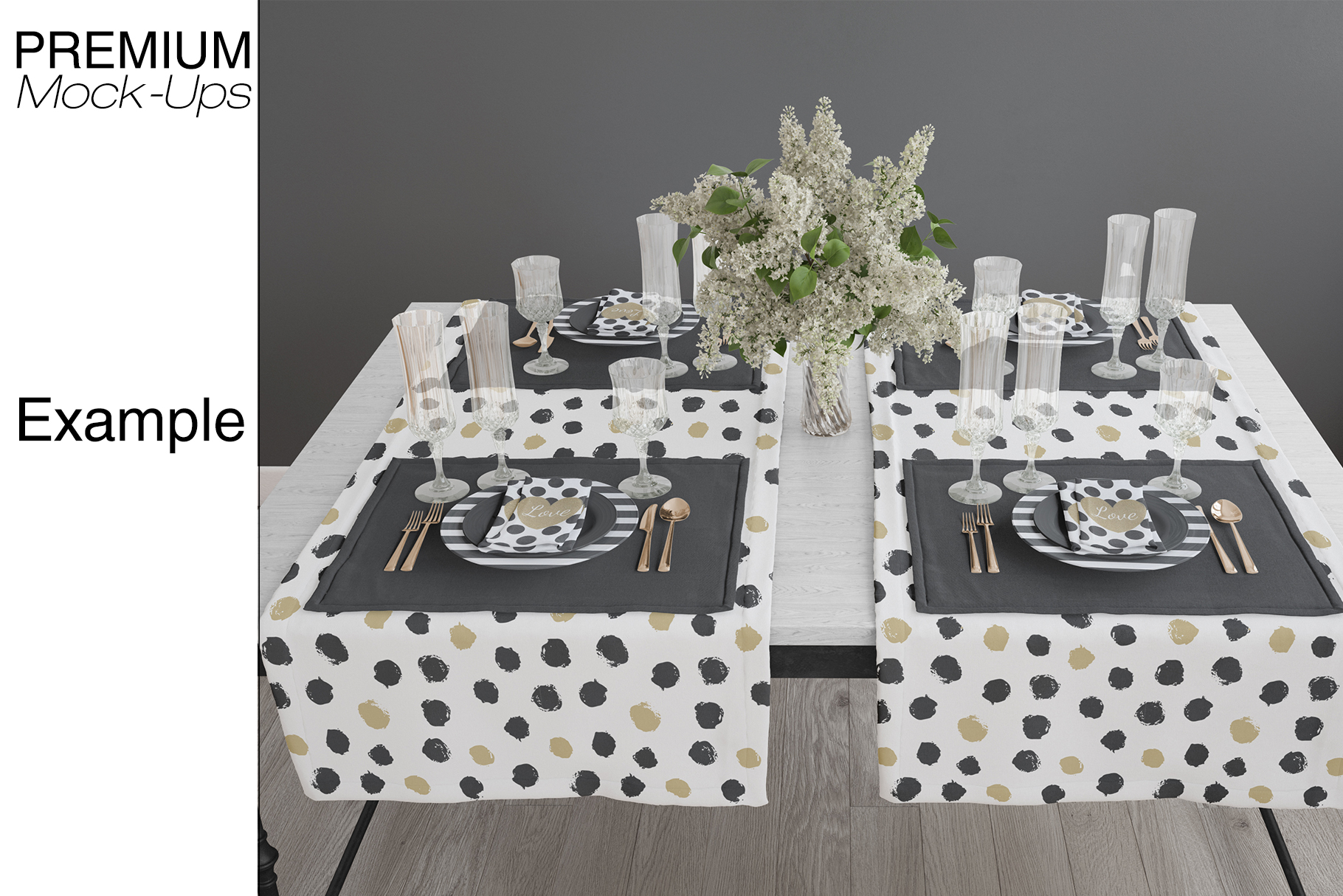 Tablecloth, Runner, Napkins & Plates example image 10