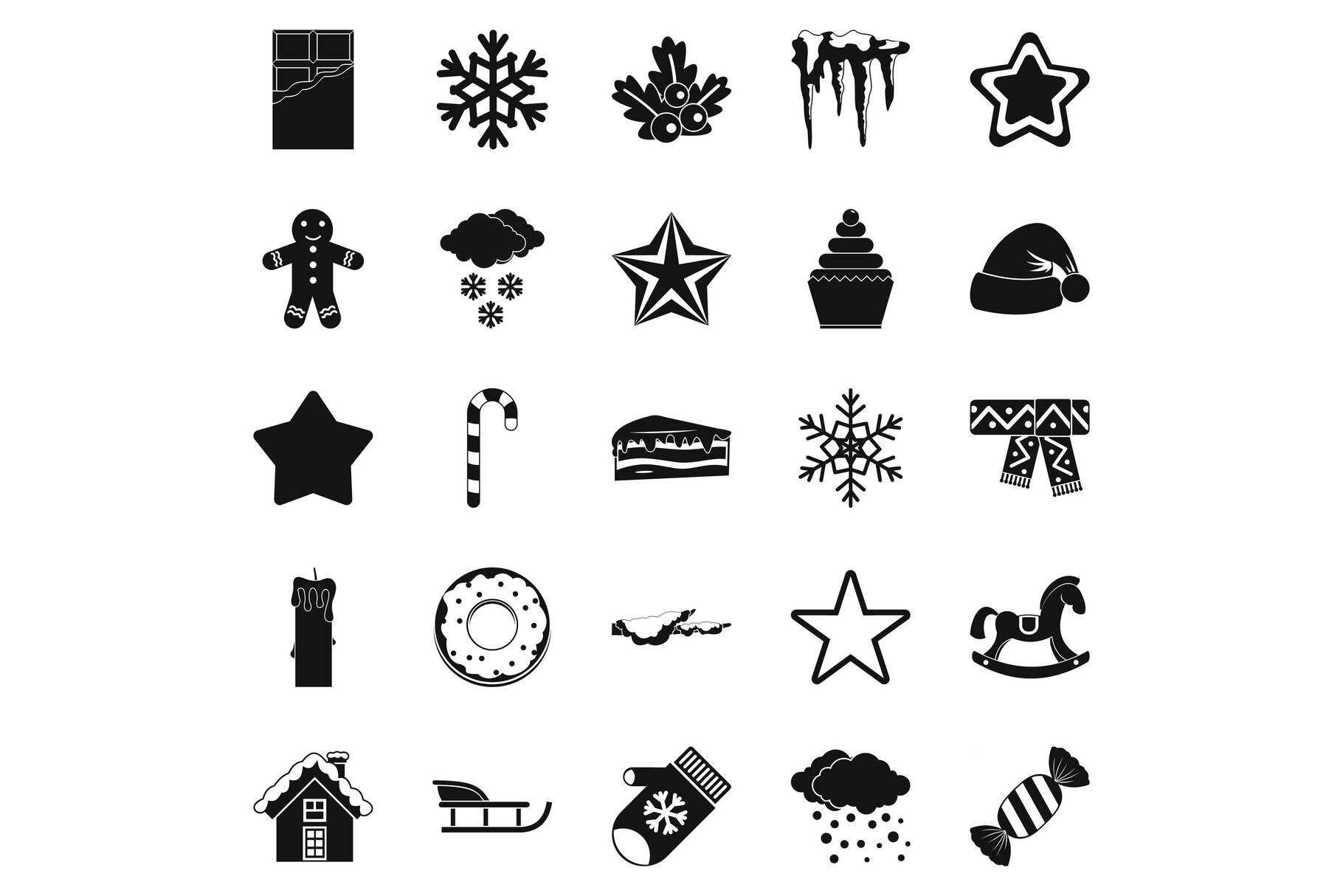 Shrine icons set, simple style example image 1