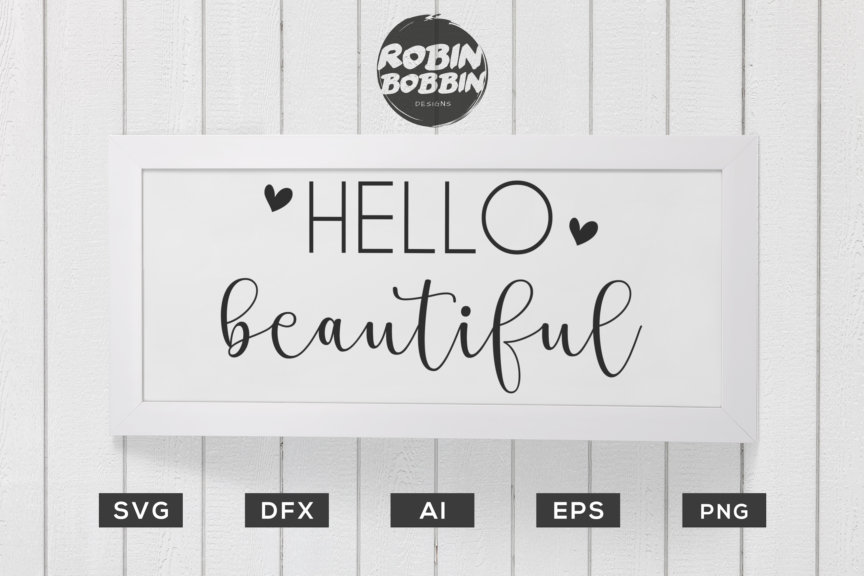 Hello Beautiful Poster SVG - Kitchen SVG EPS File example image 1