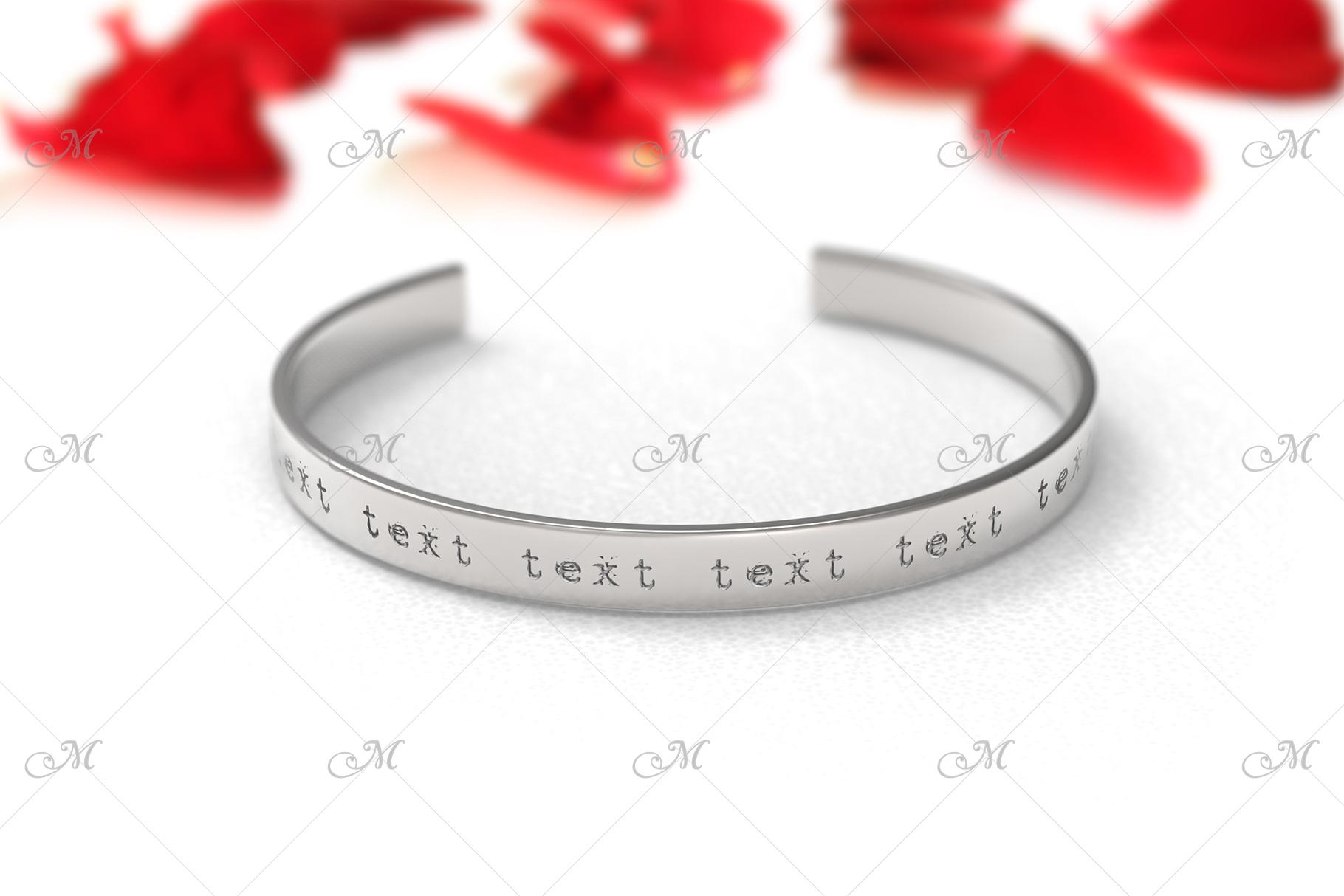 Metal Bracelet Mock-up. PSD & JPG example image 3