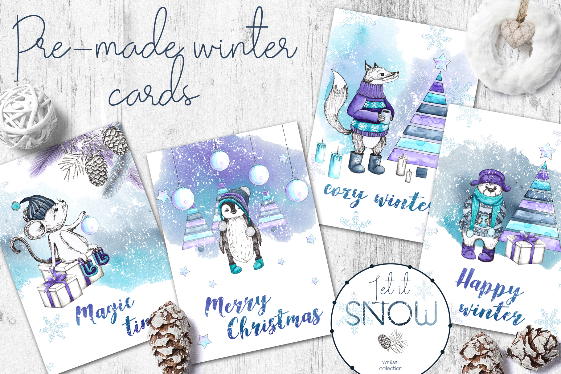 Let it snow. Winter collection example image 2
