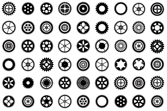 Set of vector gears example image 2