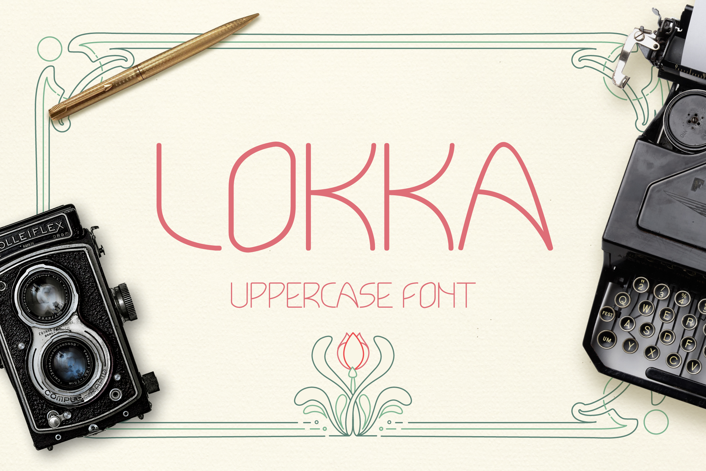 Lokka Uppercase Font example image 1