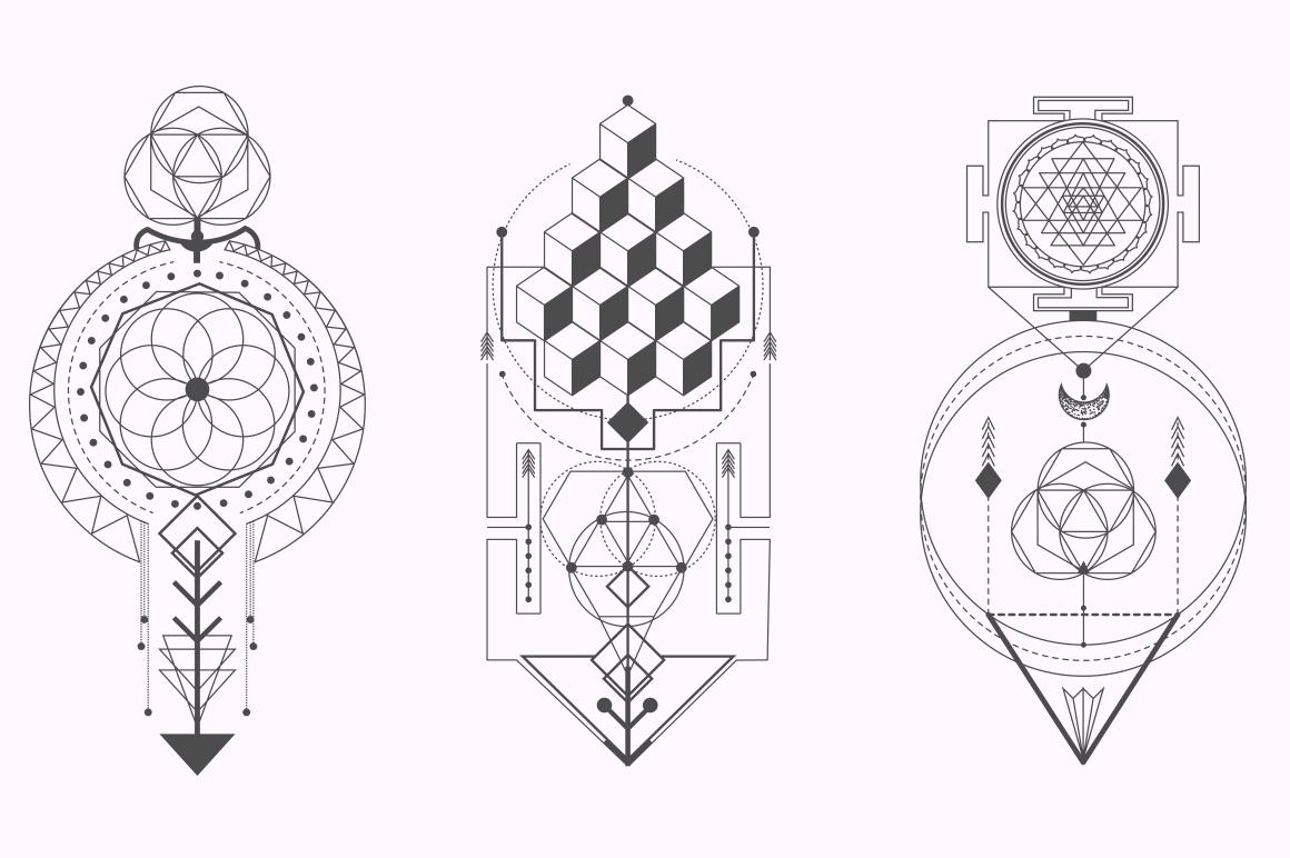 Sacred Geometry. Magic totem vol.2 example image 6