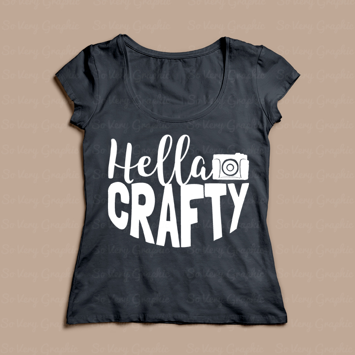Hella Crafty   Cutting File & Printable   SVG   PNG   Camera example image 4