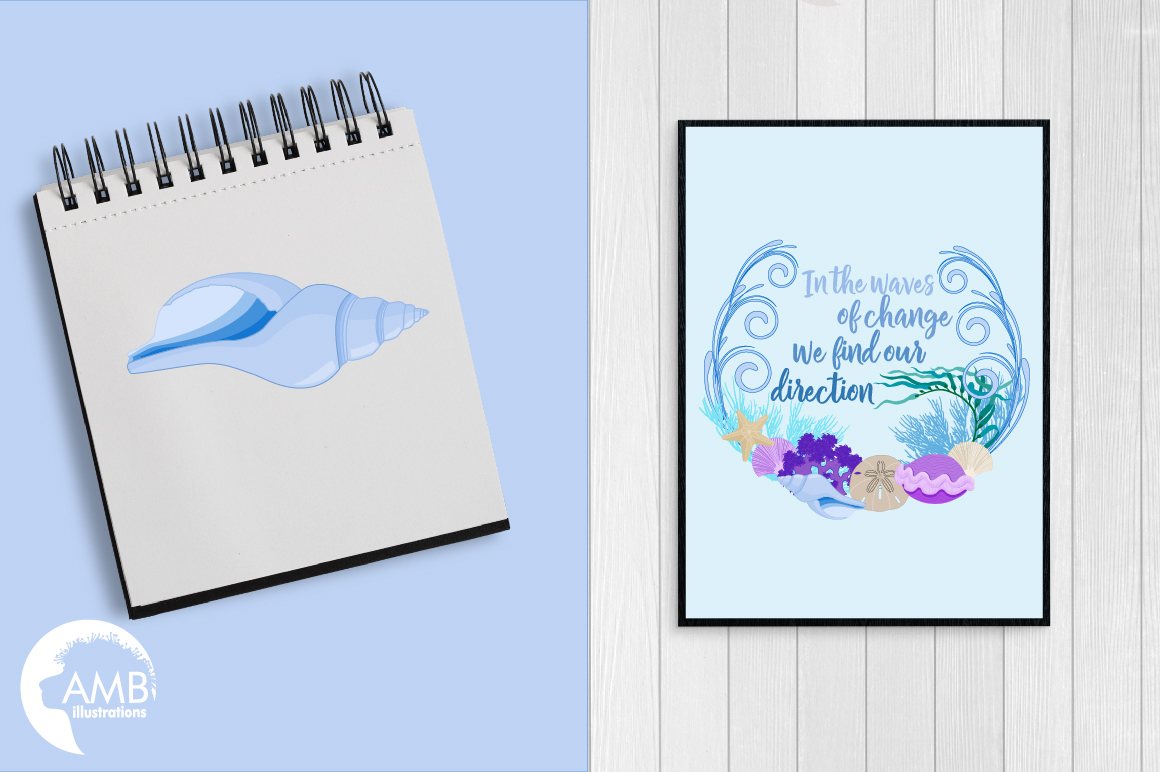 Down by the sea clipart, graphics, illustrations AMB-2342 example image 3