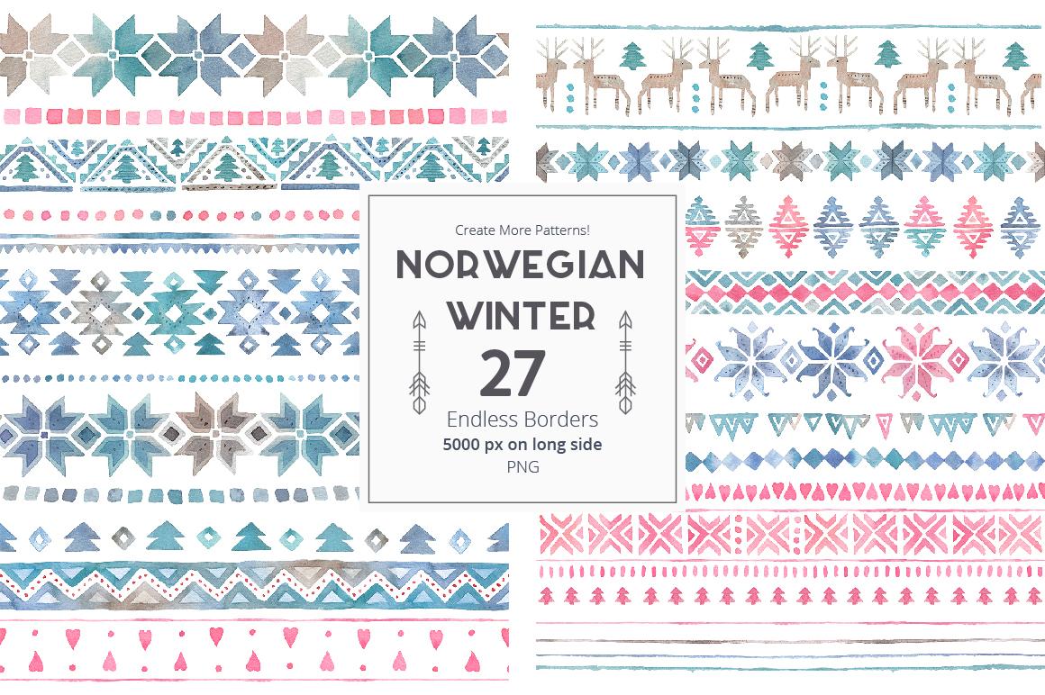 Norwegian Winter: Seamless Patterns example image 4