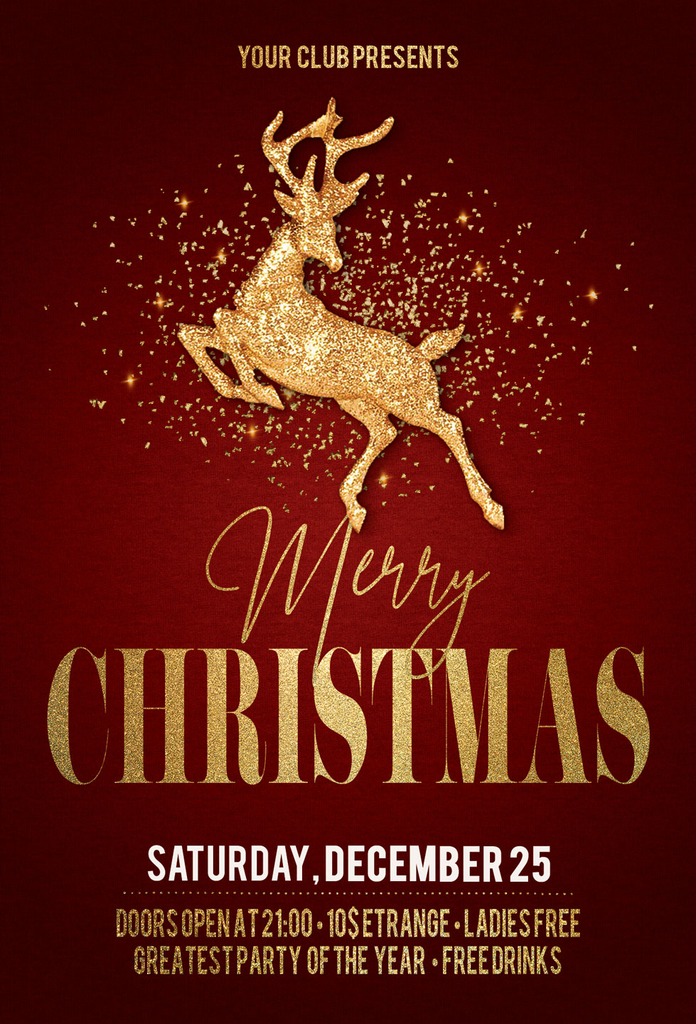 Christmas New Year Party Flyer example image 4