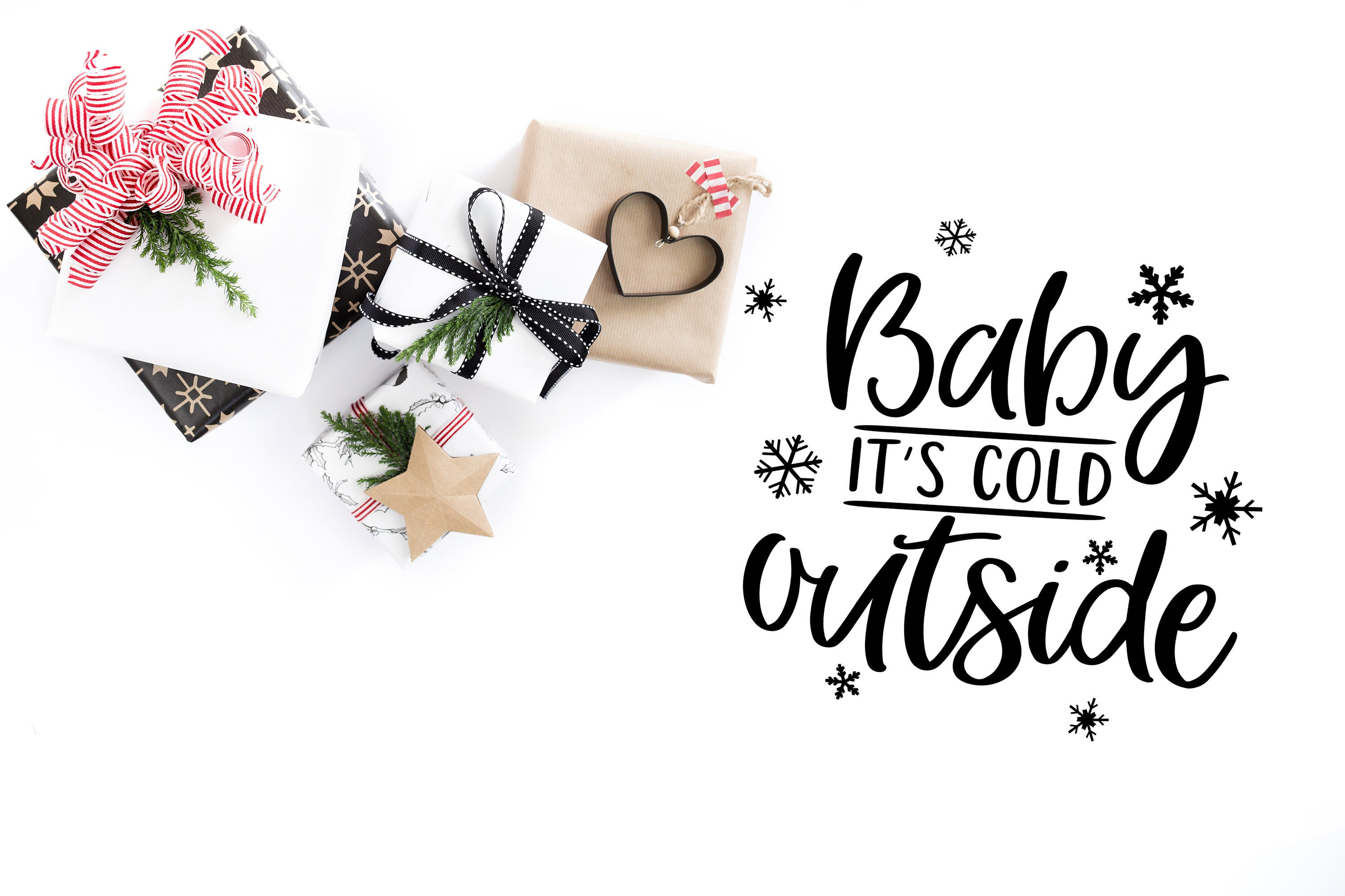 Winter SVG - Baby It's Cold Outside example image 3