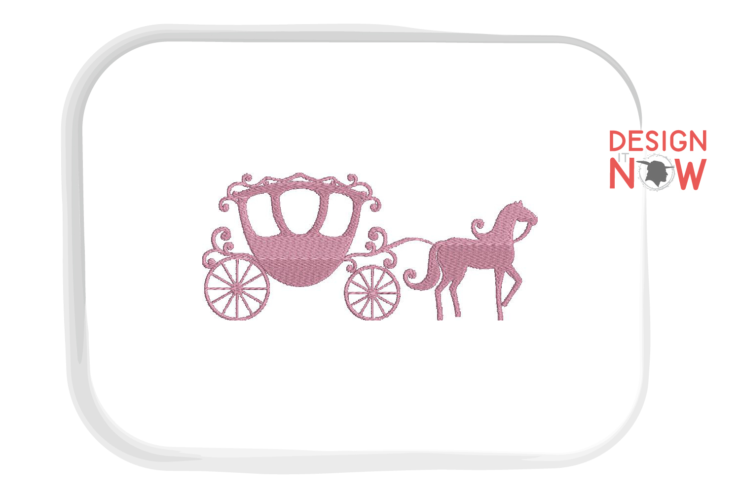 Princess Carriage Embroidery Design, Crown Embroidery, Queen example image 2