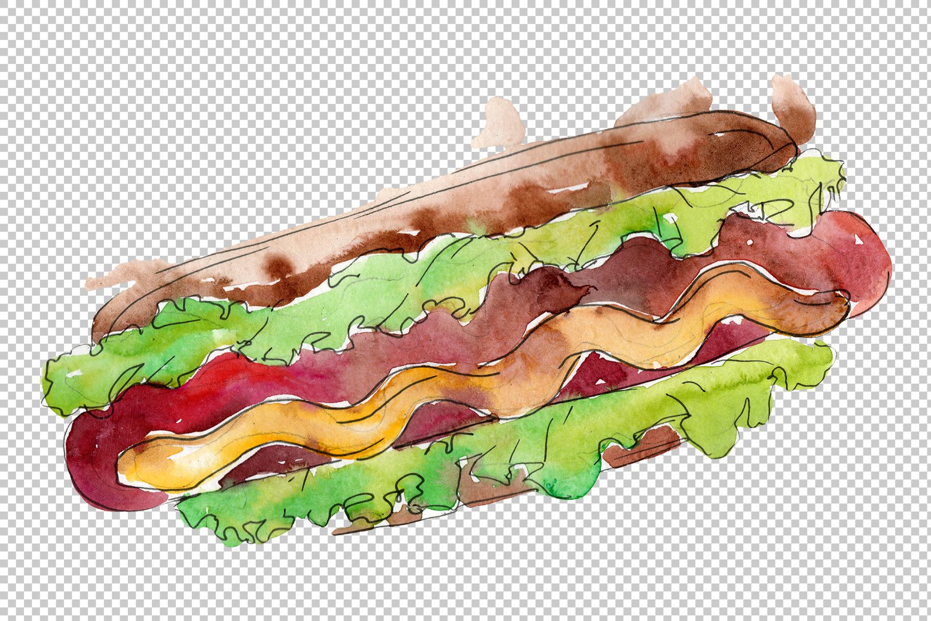 Hot dog in Ukrainian watercolor png example image 2