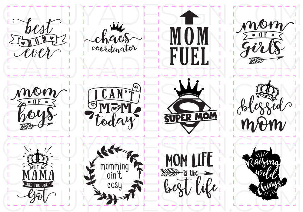 cfd64ed1eaca4 Mom Life SVG Cut File Bundle