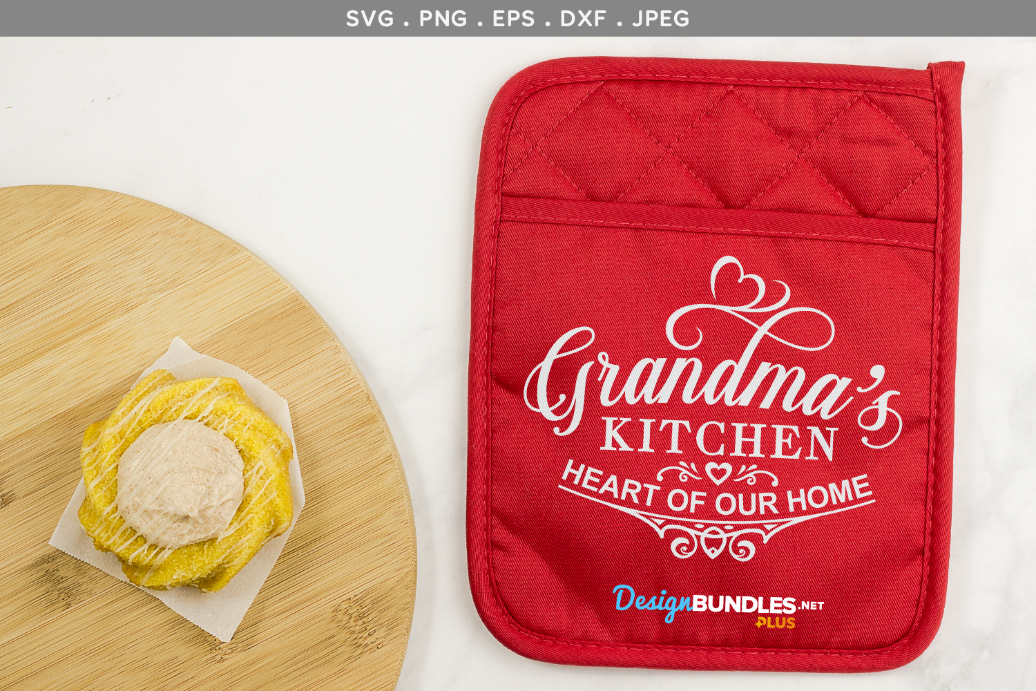 Grandma's Kitchen, Heart of our home - svg cut files example image 1