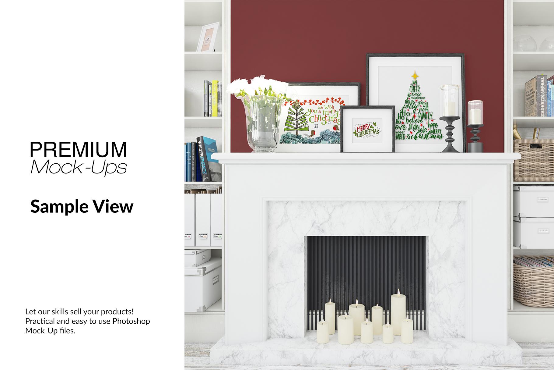 Christmas Living Room - Pillow & Frames Set example image 15