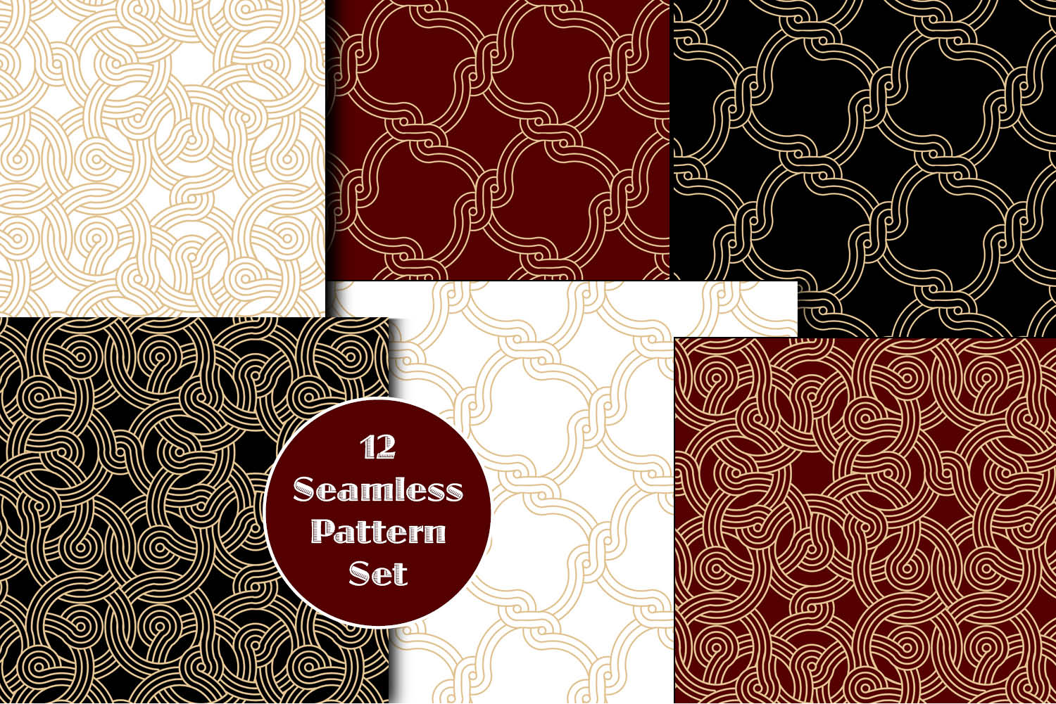 12 Seamless Pattern Set example image 2