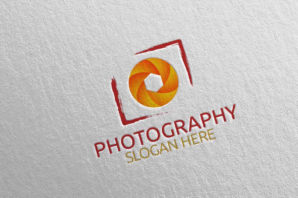 Abstract Camera Photography Logo 4 example image 3