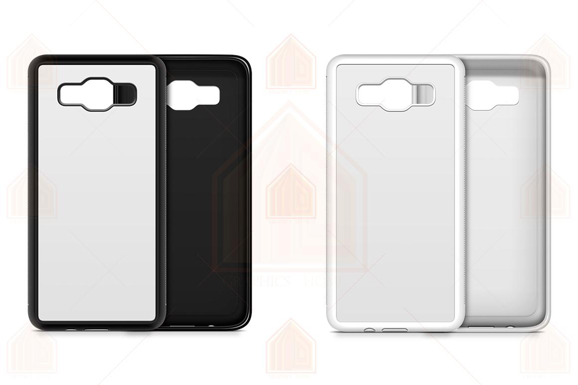 Galaxy A5 2015 2d RubberFlex Case Design Mockup Back-Front example image 3