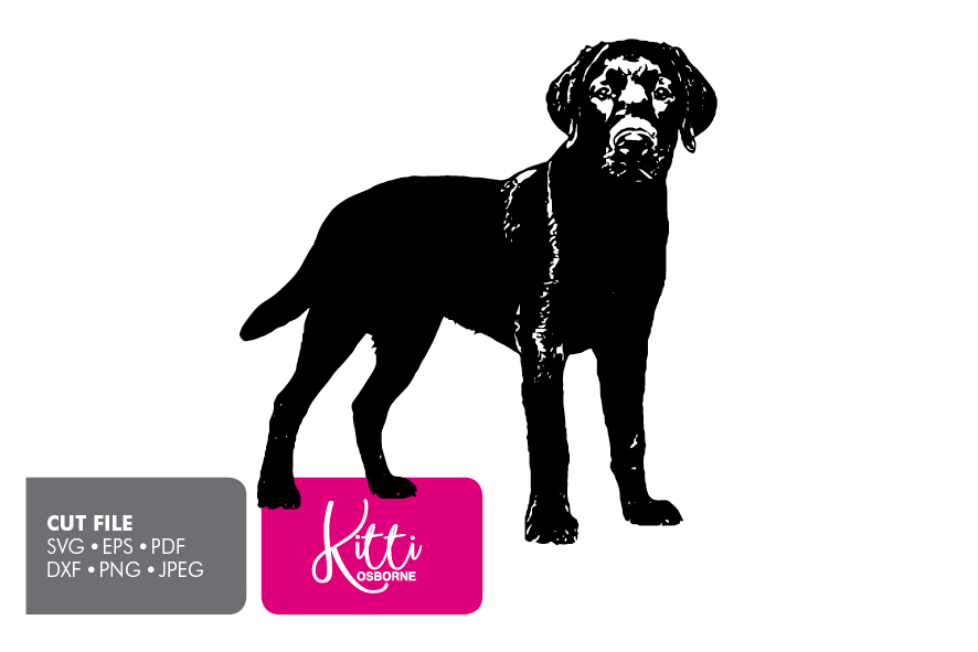 Labrador Dog Paper cut Template SVG example image 1