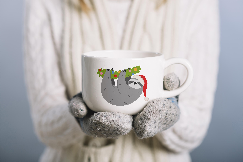Christmas Sloths Vector Art example image 2
